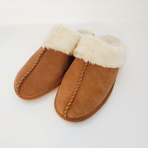 Madewell tan slippers. Size 8.